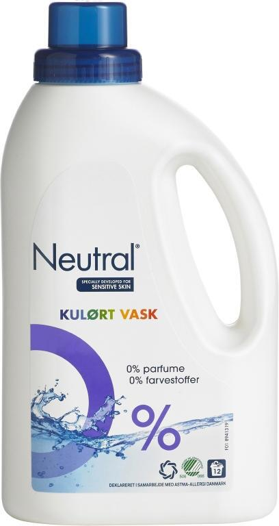Neutral flydende tøjvask color 940 ml. (6)