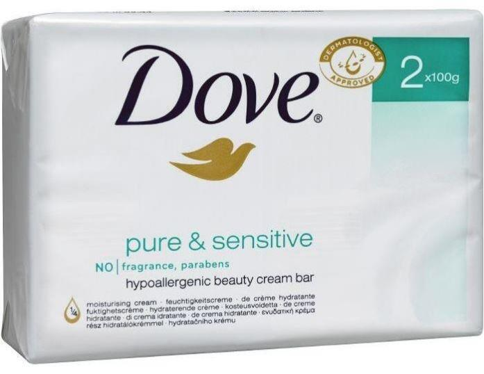 Dove pure & sensitiv 100 gr. 2 stk.